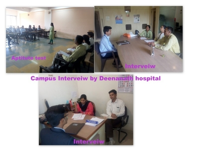 Campus Interview conducted by Deenanath Hospital on dt 28 April 2016
