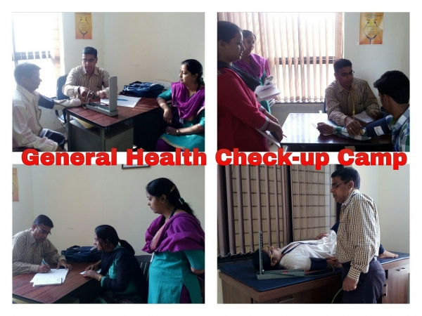 General Health checkup Camp by Dr. T. S. Wagmode at Dr.D.Y.Patil Institute of Pharmacy,Akurdi
