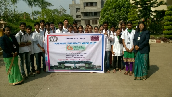 "Pharma Rally on ""Awareness of responsible use of antibiotics"" on the occasion of national pharmacy week 2015"