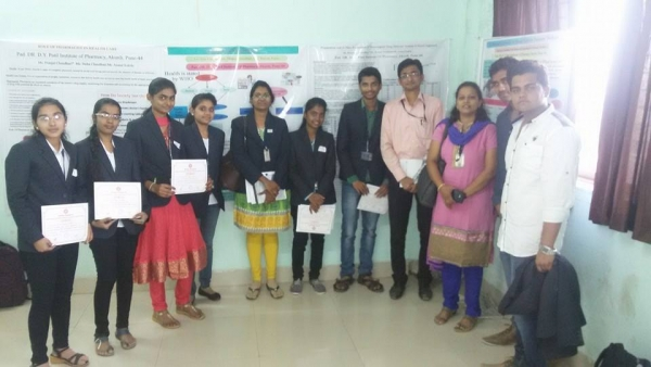 Ms.Amruta Patil & Mrs.Bhavana Kapse(Faculty) won 1st Prize and Mr.Pravin choudhary & Mr.Mukesh Choudhary(Students) won 2nd Runner Up Prize in State level poster presentation at Konkan Gyanpeeth Rahul Dharkar College of Pharmacy Karjat